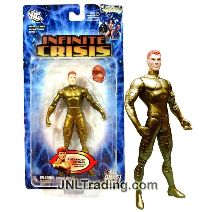 DC Direct Year 2006 DC Comics Infinite Crisis Series 6-1/2 Inch Tall Action Figure - ALEXANDER LEX LUTHOR with Alternate Hair and Display Base
