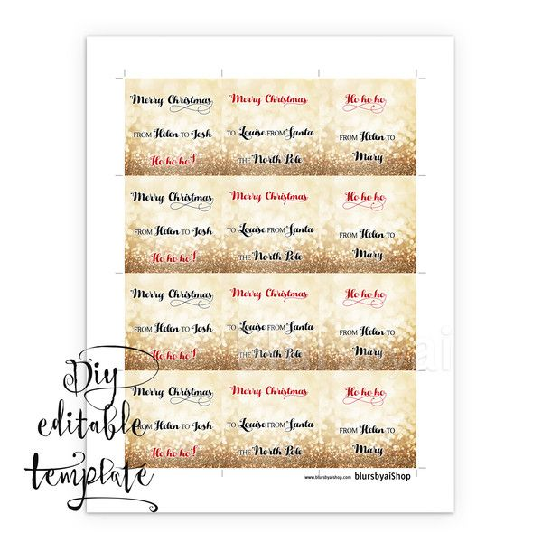 25 unique christmas tag templates ideas on pinterest gift tag free christmas tag template black friday freebie printable christmas gift tags template for word negle Images