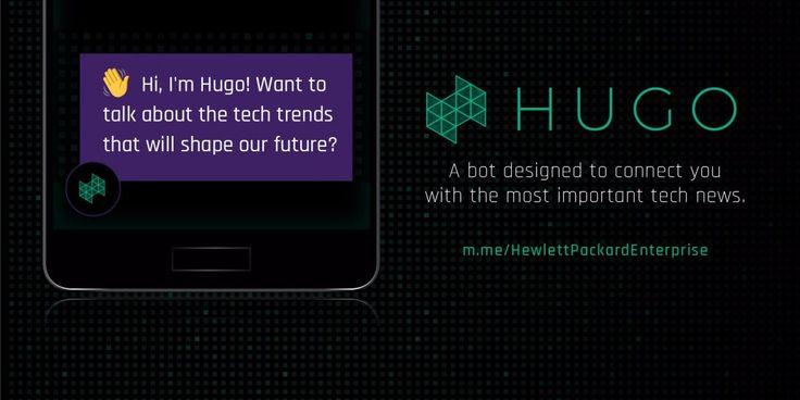 Hewlett Packard Enterprise took a Quartz ad and turned it into a news bot  ||  HPE has created a bot that both delivers the latest innovation news and touts its services. The product, Hugo, was born in an ad placement on Quartz. http://www.businessinsider.com/hp-enterprise-took-an-ad-from-quartz-and-turned-it-into-a-facebook-bot-2017-11?utm_campaign=crowdfire&utm_content=crowdfire&utm_medium=social&utm_source=pinterest