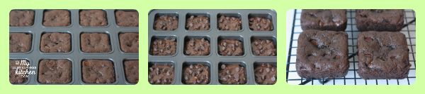 Double Chocolate Zucchini Cake Brownies made in brownie pan (gluten-free, dairy-free, egg-free)