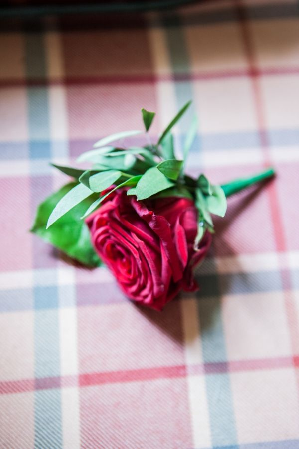 Wedding Red Rose Buttonhole http://www.leescullion.com/