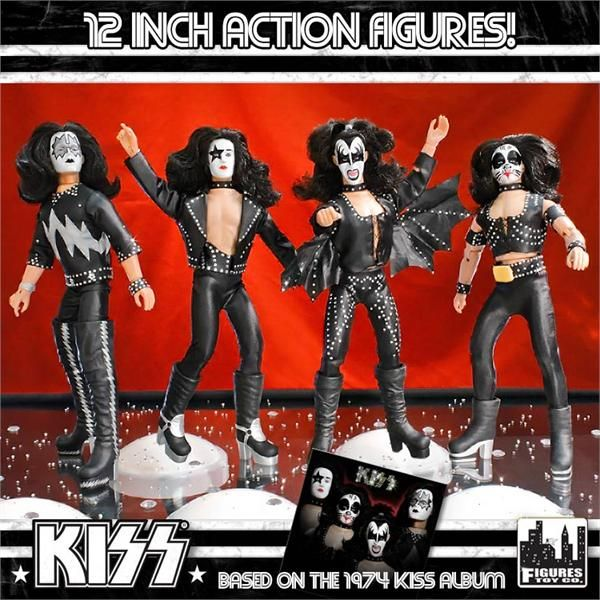 Kiss 12 Inch Action Figures Series Two Complete Set Of All 4 Loose