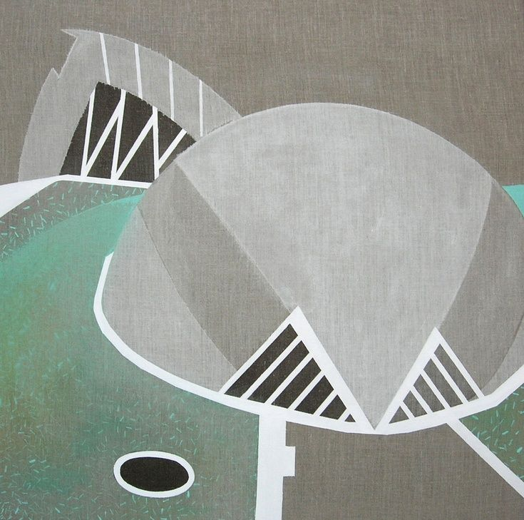 Valencia 1 by Lucie Jirku - Original painting in acrylic on standard edge canvas.