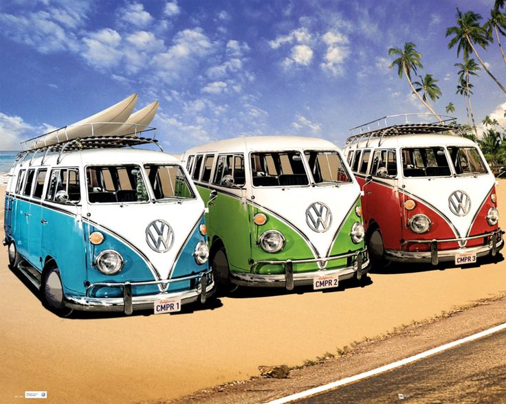 VW Camper - Camper - Official Mini Poster. Official Merchandise. FREE SHIPPING