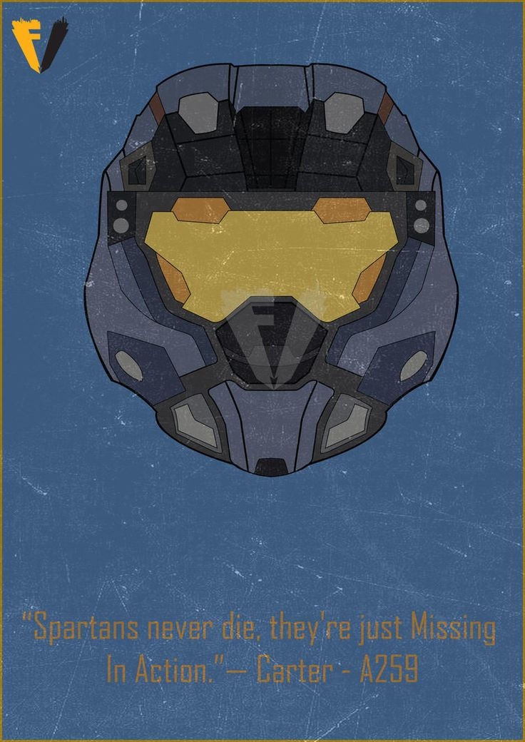 Halo Reach Carter Helmet Poster by FALLENV3GAS on DeviantArt