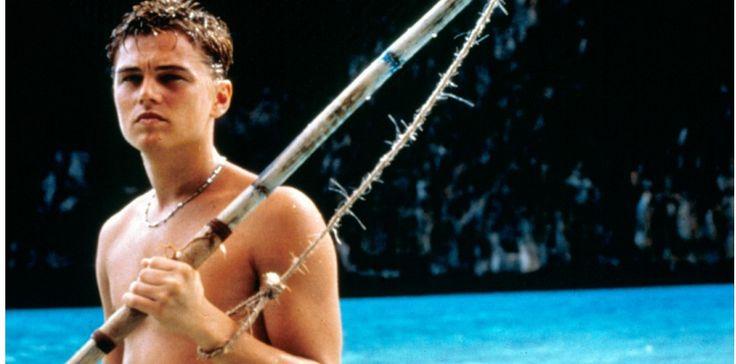 "Leonardo DiCaprio en 2000, dans  ""La Plage"", film de Danny Boyle."