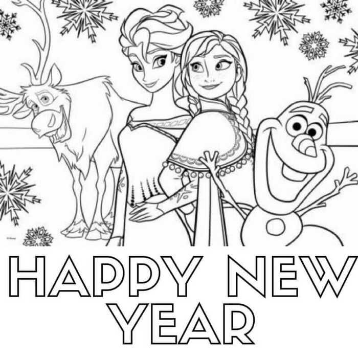 Printable New Year Coloring Pages Free Coloring Sheets Frozen Coloring Pages Elsa Coloring Pages Disney Princess Coloring Pages