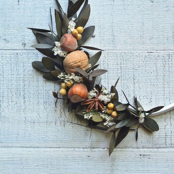 Modern fall hoop wreath simple autumn minimalist wreath ...