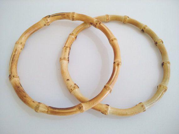 1 pair of bamboo bag handles 15 cm handbag make a by ROYALcraftPT