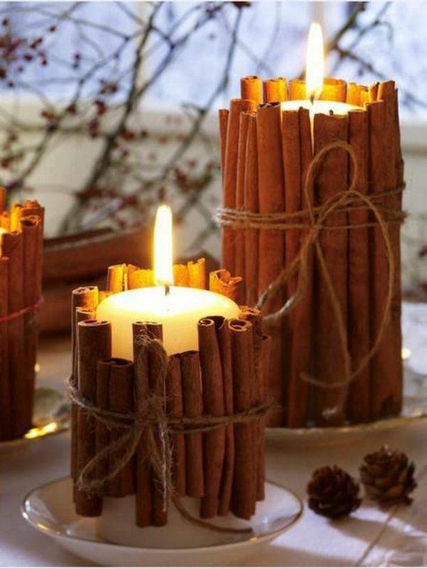 Bougies décoratives de cinnamome