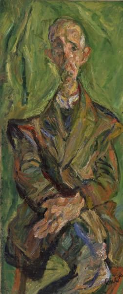 Chaim Soutine, Russian, active in France, 1893–1943. Praying Man (L'Homme en prière), c. 1921. Oil on canvas, 53 3/8 x 23 in. (135.6 x 58.4 cm) BF367. © 2014 Artists Rights Society (ARS), New York / ADAGP, Paris. Image © 2014 The Barnes Foundation