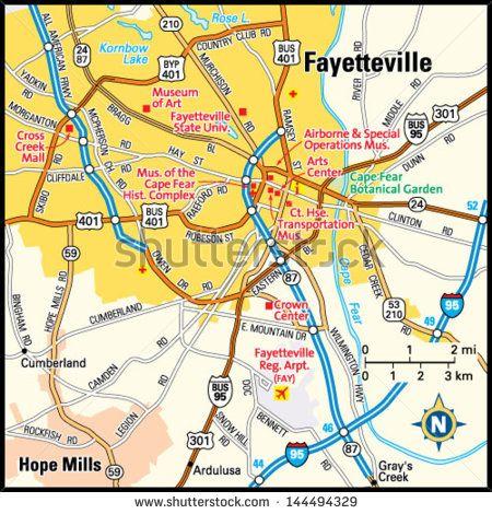 Map Of Fayetteville North Carolina Georgia Map - Georgia map fayetteville
