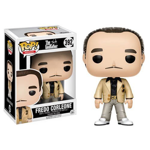Movies Pop! Vinyl Figure Fredo Corleone [The Godfather] To celebrate the 45th anniversary of the iconic film The Godfather, Funko is making an offer you can't refuse: the Corleone crime family in Pop!