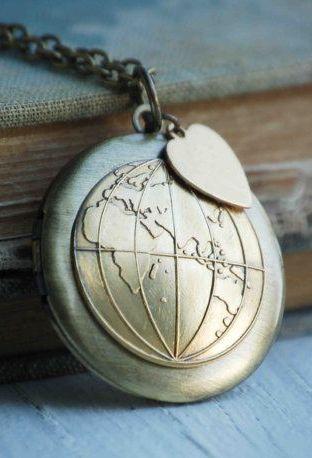 World LOCKET Atlas Map Western & Eastern