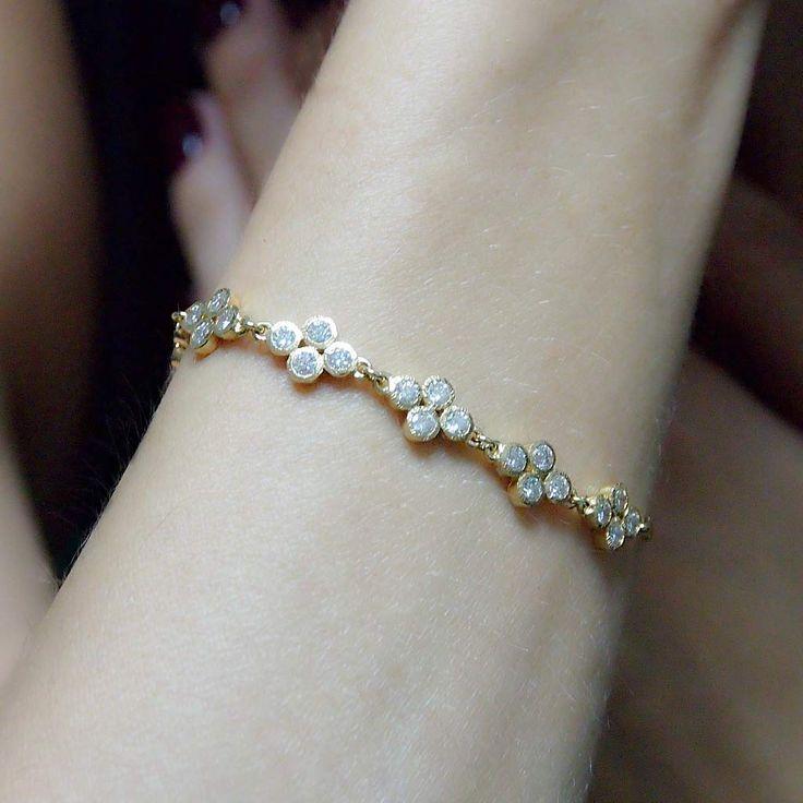 """Vesper Princess"" Diamond Bracelet - Plukka - Shop Fine Jewelry Online"