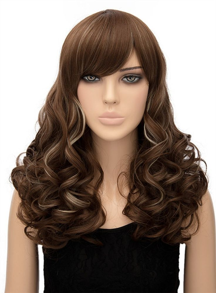 Attractive Mixed Color Long Wavy Capless Synthetic Hair