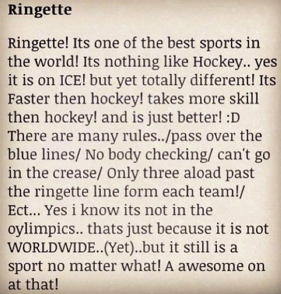 I play ringette and yes it is a sport   yes im a giel   and  yes i can skate  try and keep up