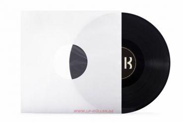 Deluxe LP Innenhüllen, weiss, Mittellöcher, gefüttert, 90gr/qm