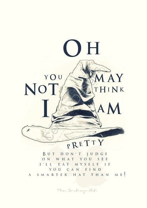 Harry Potter Movie Quote Poster  Sorthing Hat Song by POTAPOTA, £9.99
