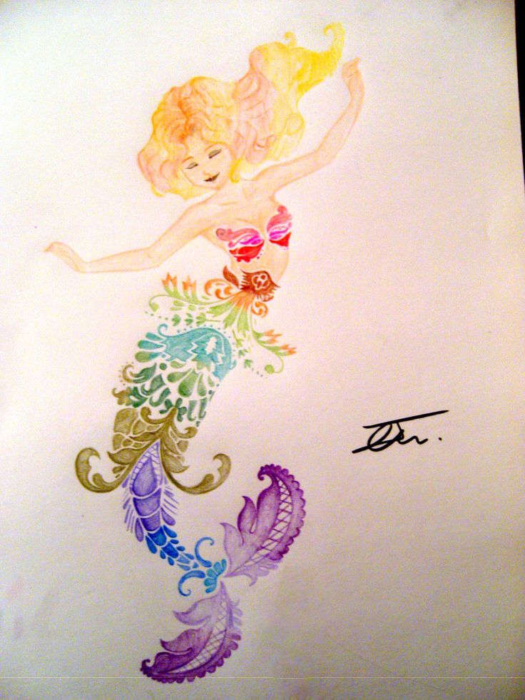 Rainbow Mermaid by NienorGreenfield.deviantart.com on @deviantART