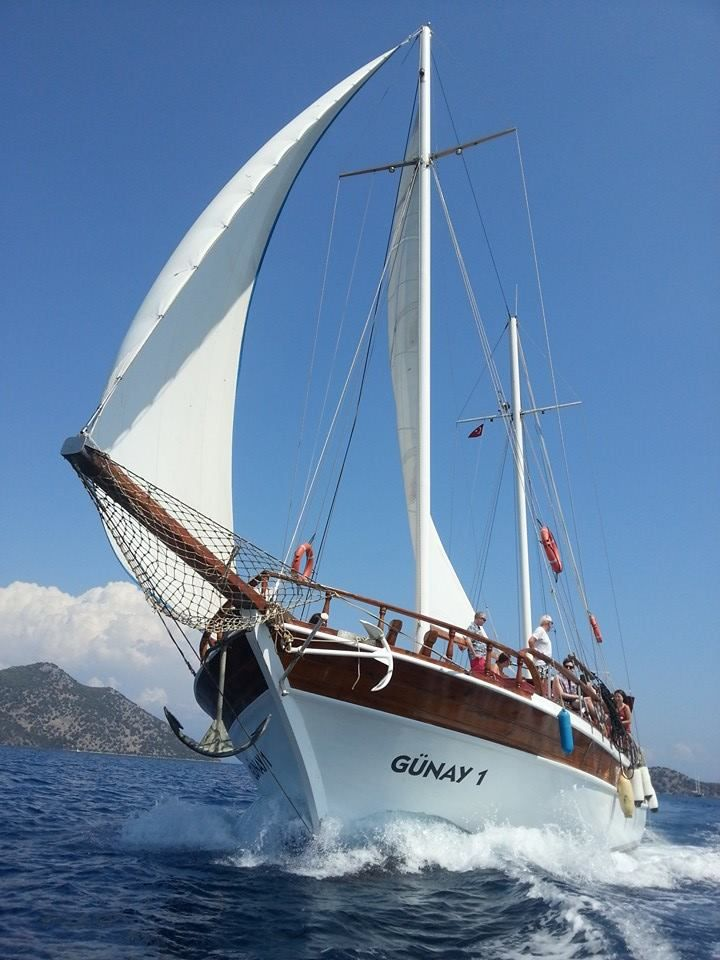 The Günay 1 is the only private real natural wooden sailing gulet in Göcek 12 Islands.The ultimate escape to the beauty of the Turquoise coast.Max. 12 people.