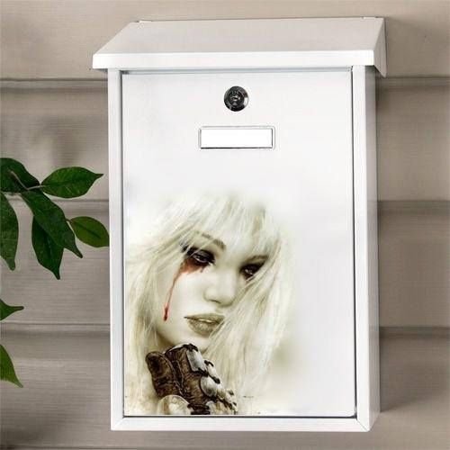 Hand Painted Mailbox Girl hand painted letter box Decorative