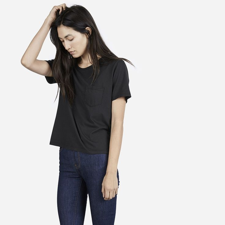 Everlane Box-Cut Tee in muted black size S? XS?