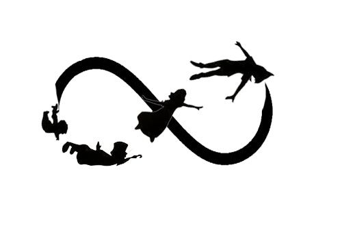<3 Peter Pan Infinity tattoo