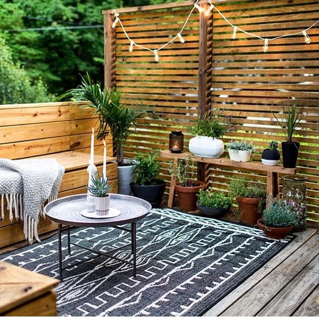 Outdoor Living Space On A Budget Patio Makeover