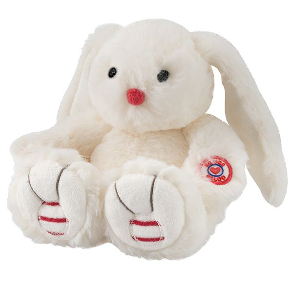 Rouge pequeño conejo blanco 19cm