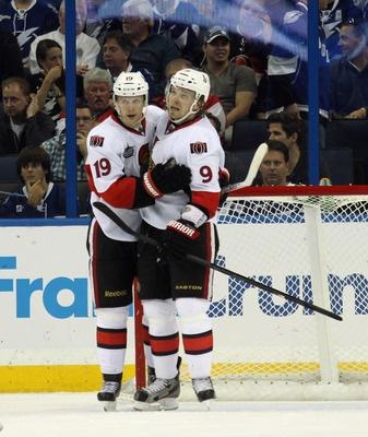 Jason Spezza and Milan Michalek, Ottawa Senators