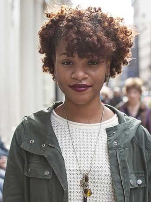 15 Short Curly Afro Hairstyles | http://www.short-haircut.com/15-short-curly-afro-hairstyles.html
