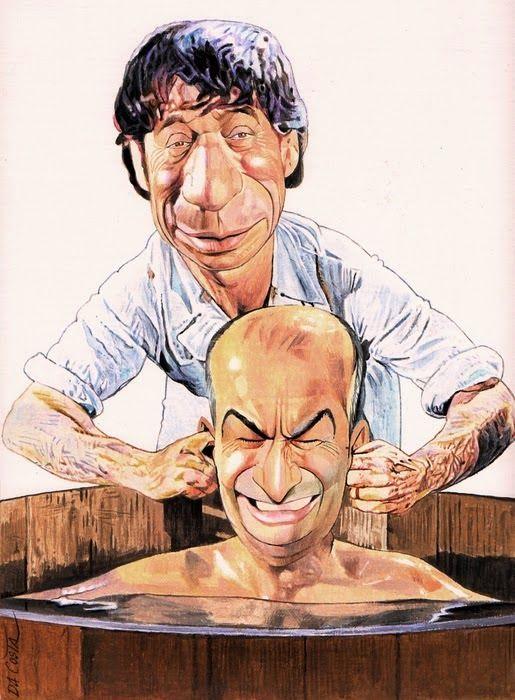 _Yves Montand & Louis de Funès_ in _La Folie des Grandeurs_ by Charles Da Costa  [=> http://chadacosta44.blogspot.fr/2011/11/yves-montant-et-louis-de-funes.html ]Charles DA COSTA: YVES MONTAND ET LOUIS DE FUNES