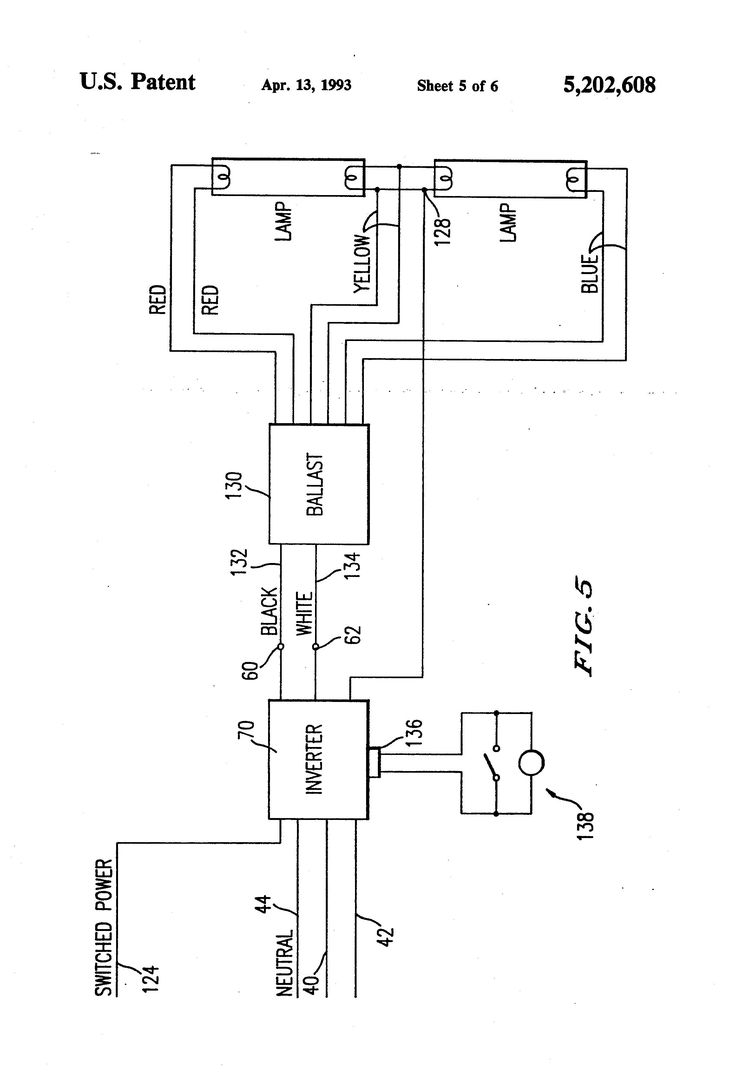 Fluorescent Emergency Ballast Wiring Diagram In 2020 Ballast Diagram Honeywell Thermostats