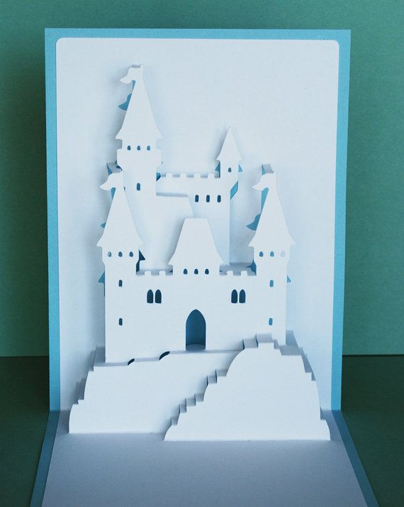 Principessa castello pop-up Card di PeadenScottDesigns su Etsy