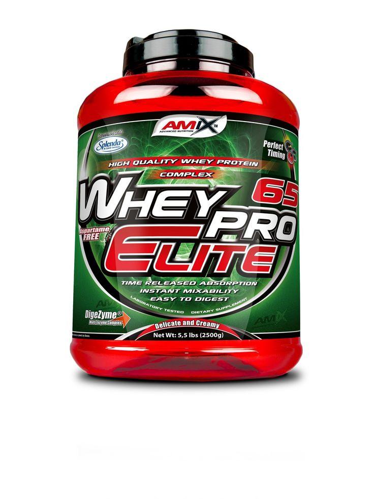 WheyPro Elite 65 - protein vyznačující se delikátní a krémovou chutí a ideálním aminokyselinovým spektrem. Vyvážená směs proteinů zaručuje pozvolné vstřebávání po dobu až několika hodin. Díky tomu je vhodný i pro suplementaci ve večerních hodinách. Obsahuje veškeré esenciální a neesenciální aminokyseliny s velkým množstvím aminokyselin BCAA (L-Leucin, L-Valin, L-Isoleucin).