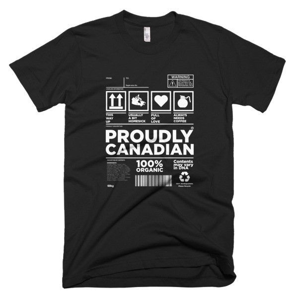 Proudly Canadian Made Mens T-Shirt - Expat Clothes