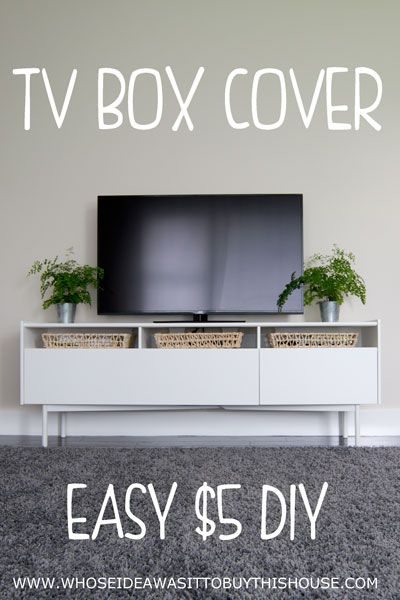 how to disguise your cable box or dvd player with a basket tray merry monday link party. Black Bedroom Furniture Sets. Home Design Ideas