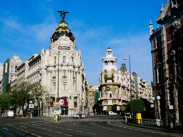 A stroll along Gran Vía in central Madrid is highly entertaining, day or night. The thoroughfare is lined with hundreds of shops, cafés, and restaurants, so it's always buzzing with people; but what makes it truly unique is its many historical theaters and cinemas. It's akin to New York City's Broadway, with beautiful architecture that's worth the walk alone. Stretching from Plaza de España to the iconic Beaux-Arts Metropolis building, it offers plenty of fabulous photo opportunities.