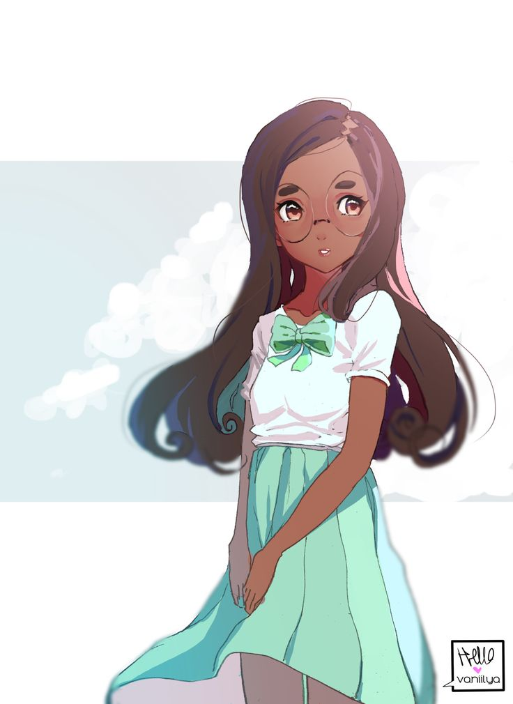 Anime Characters That Look Like Me : Best cute black brown skinned anime images on