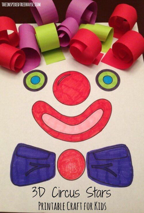 PRINTABLE ACTIVITIES FOR KIDS: 3D CIRCUS STARS