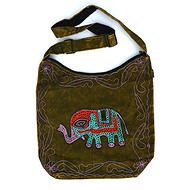 Lucky Elephant Bag - Beautifully embroidered elephant bag, lots of space for all your stuff…. The Elephant Spirit brings power, pride and strength. Elephants are patient, even tempered, and have a long life span