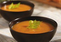 Roasting the sweet potatoes for this soup deepens their flavor, and when combined with broth, vegetables and maple syrup, you′ve got an amazing soup that gets better with every bite.<br />