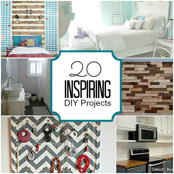 20 Super Inspiring DIY Projects!! -- Tatertots and Jello #DIY: Decor Ideas, Diy'S, Diy Crafts, Backyard Projects, Design Interiors, 20 Inspiration Diy Projects, Home Interiors Design, Great Ideas, 20 Diy