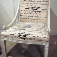 inspiration files--chair makeover after from decor allure blog: White Chairs, Chairs Makeovers, Decor Ideas, Shabby Chic, Decor Allure, Furniture, Old Chairs, Paintings Chairs, Chairs Redo