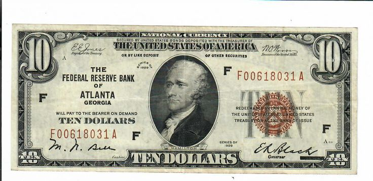 #New post #1929 TEN DOLLAR $10 FEDERAL RESERVE NATIONAL BANK NOTE ATLANTA FR. 1860 F/VF  http://i.ebayimg.com/images/g/uVIAAOSwDmBY2~9V/s-l1600.jpg   1929 TEN DOLLAR $10 FEDERAL RESERVE NATIONAL BANK NOTE ATLANTA FR. 1860 F/VF  Price : 79.99  Ends on : 4 weeks  View on eBay  Post ID is empty in Rating Form ID 1 https://www.shopnet.one/1929-ten-dollar-10-federal-reserve-national-bank-note-atlanta-fr-1860-fvf/