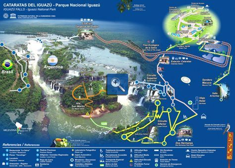 Iguazu falls Map, Maps of the Iguazu National Parks