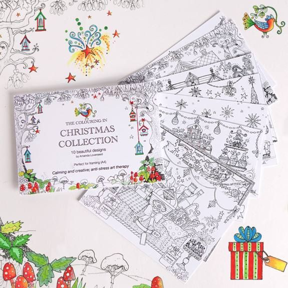 Take your pick from the Phoenix Christmas Colouring-in Collection of cards
