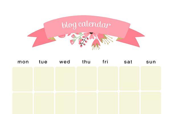 Free Printable Blog Calendar ♥ Caylee Grey