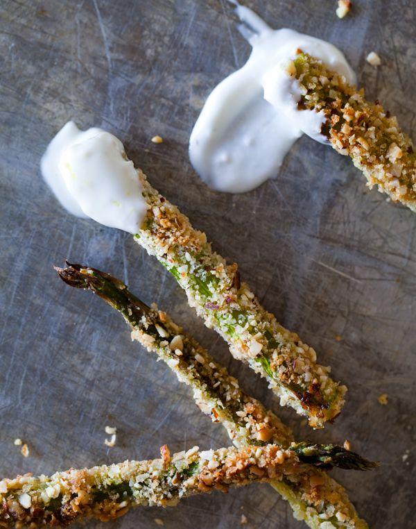 // Baked Asparagus Fries